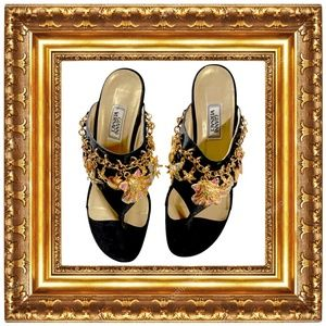 Versace Vintage Heels with Charms